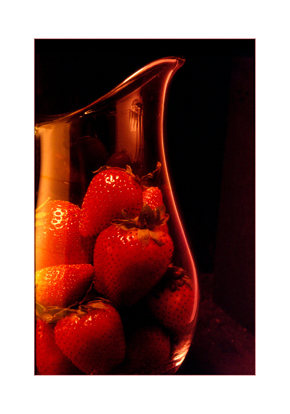 Studio Still: Strwberries in Pitcher.  © High Cascade Studios